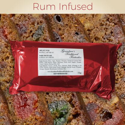 Rum Infused - Dark Fruitcake 1kg